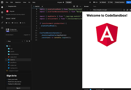 Angular - CodeSandbox