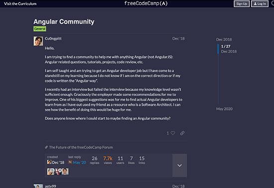 Angular Community - The freeCodeCamp Forum