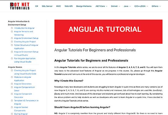 Angular Tutorials For Beginners, Dot Net Tutorials