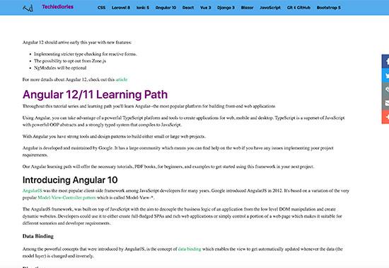 Angular Tutorials - Techiediaries