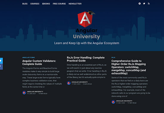 Angular University Blog