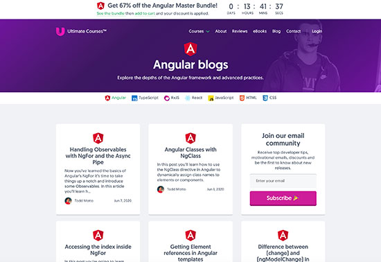 Angular blogs, Ultimate Courses