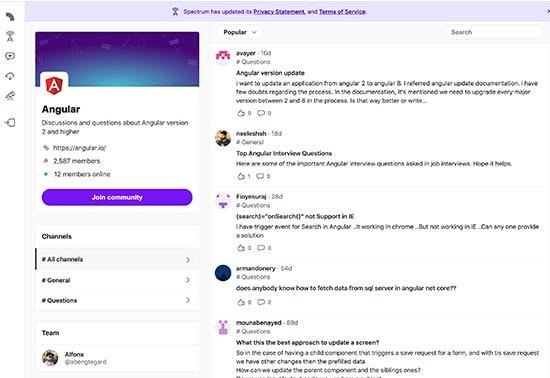 Angular community - Spectrum.chat