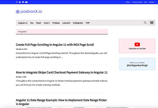 Angular - positronX.io