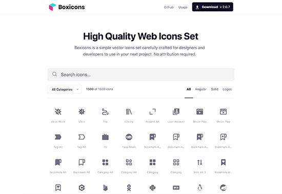 Boxicons, Premium web friendly icons for free