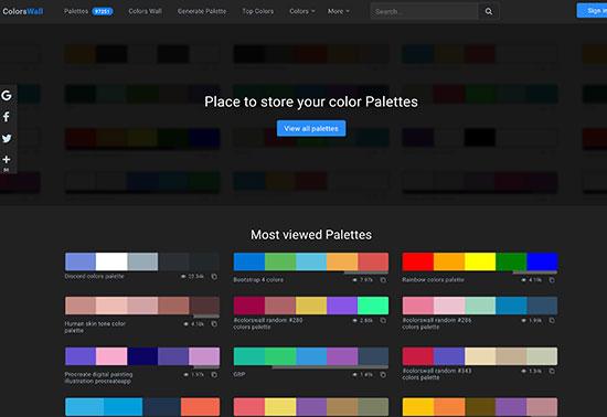 ColorsWall, Colours & Gradients