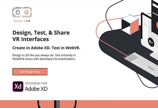DraftXR, Instant VR Prototyping in Adobe XD