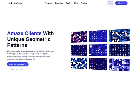 MagicPattern, Beautiful SVG background patterns generator