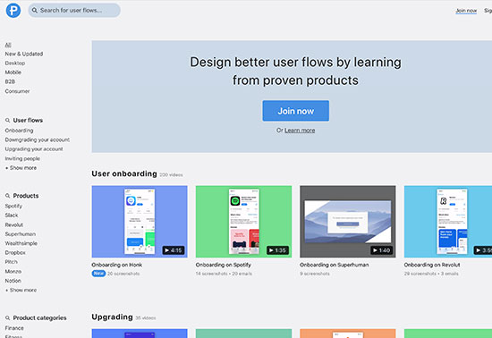 Page Flows, user flow design inspiration