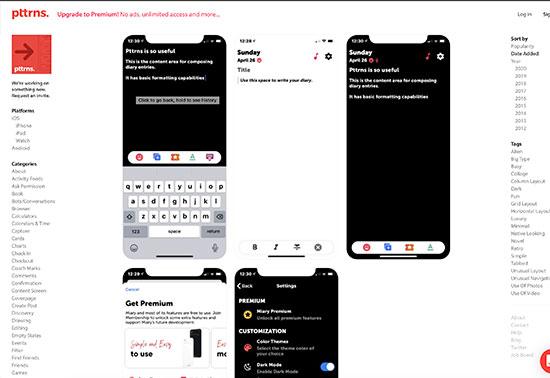 Pttrns, Mobile Design Patterns