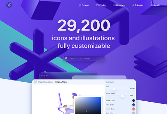 Shape, 26000 Icons & Illustrations to SVG, Lottie, React