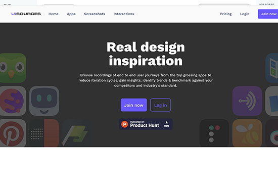 UI Sources, Mobile Design Patterns and Interactions