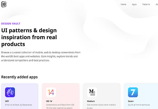 UI patterns & design inspiration from real products