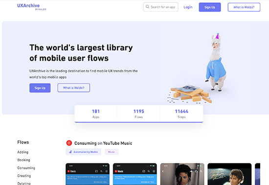 UXArchive, Made by Waldo