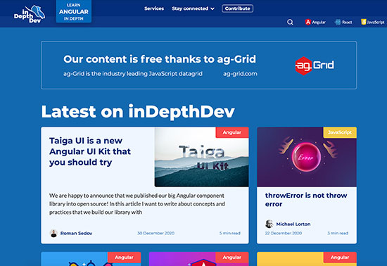 inDepthDev, Community of passionate, web developers