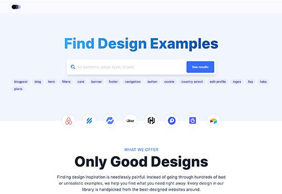 lookup.design, ui examples