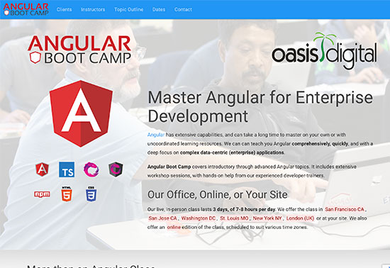 Angular Boot Camp - Live Instructor Angular class